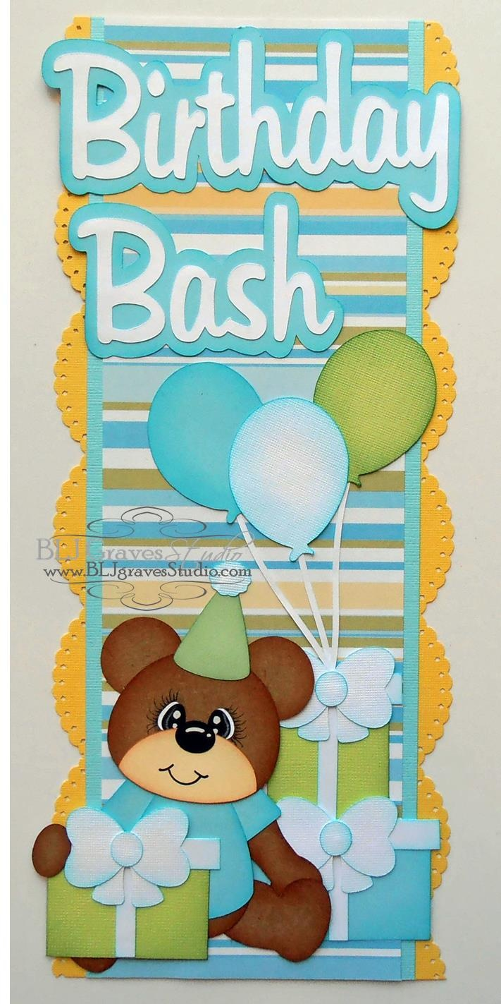 BLJ Graves Studio: Birthday Scrapbook Borders