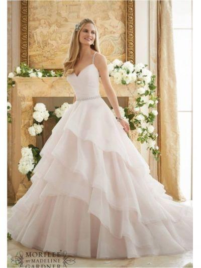 beaded spaghetti straps sweetheart mori lee 2873 wedding dress|mori lee 2873|Mori lee