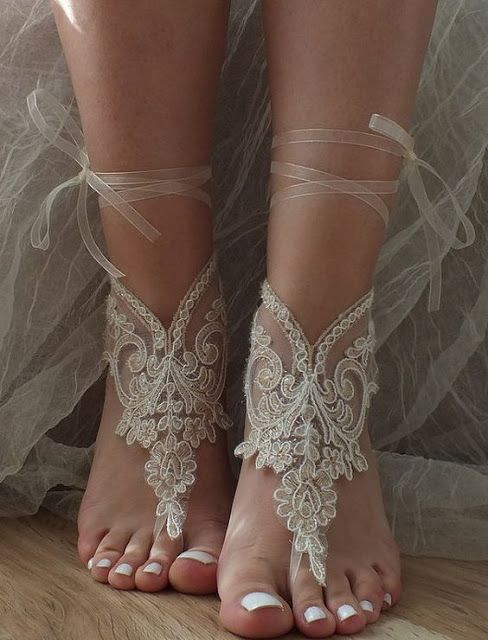 lace barefoot sandals