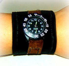 Vibrant Designs: Leather Cuff Watch...TUTORIAL!!