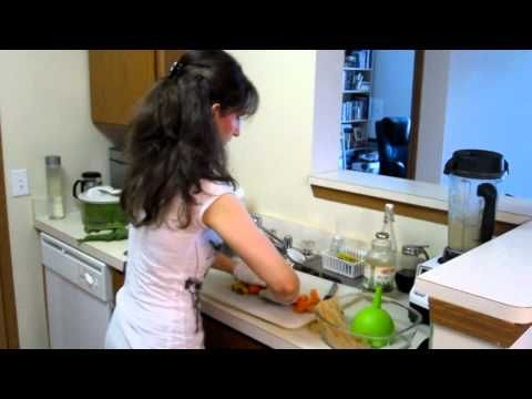 """Green Watermelon — Annmarie Gianni's Favorite (Kevin's Wife)    1 Cucumber  2 Stalks of Celery  3-4 Leaves of Kale  Handful of Cilantro  1 Cup Watermelon  Small piece of garlic    This is refreshing and green to the max.  The garlic will give it a kick and, according to Kevin, """"make your immune system hum!"""""""