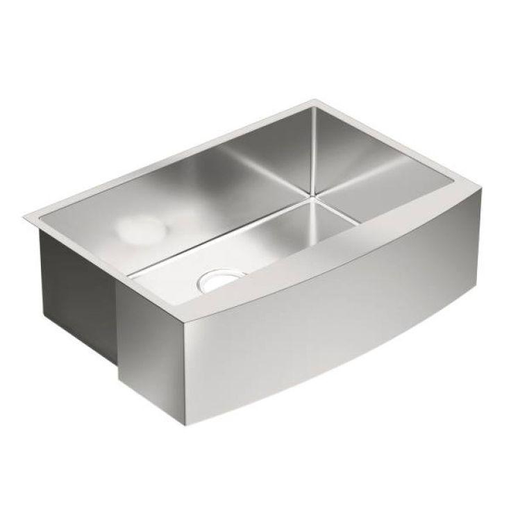 "Moen 1800 Series 30"" x 21"" Stainless Steel 18 Gauge Single Bowl Farmhouse Kitchen Sink - G18121"