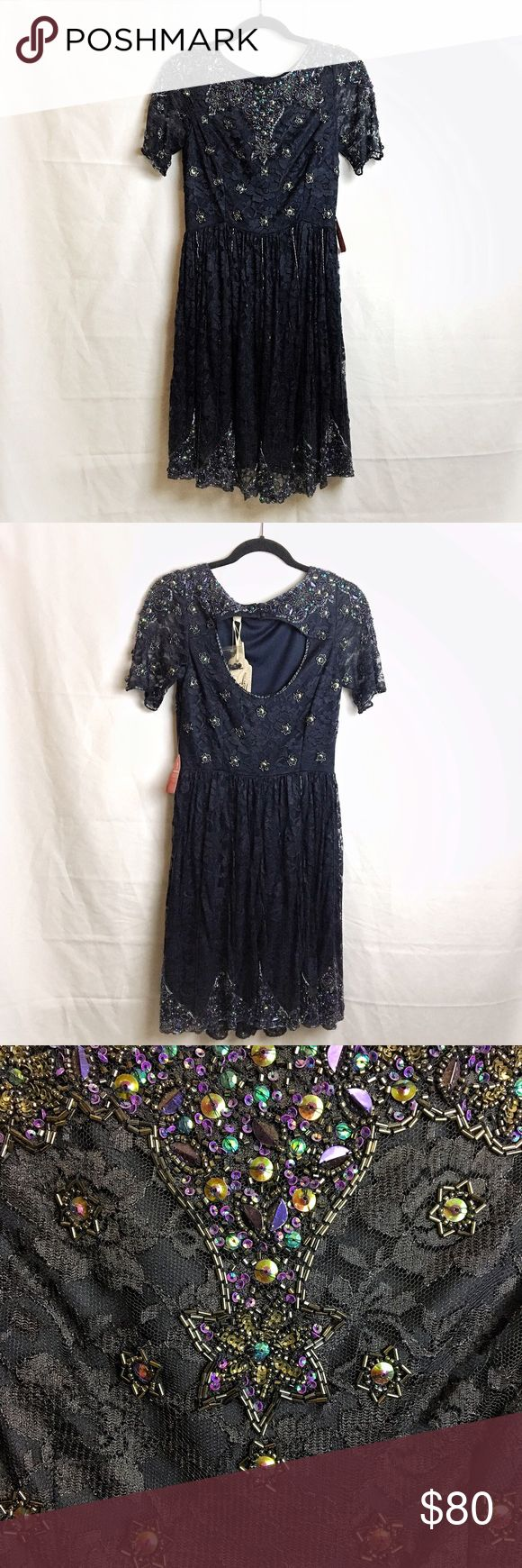 Frock and Frill Embellished Navy Dress SOOOOO GORGEOUS AHHH.  Navy color with beautiful embellishments.  NEW WITH TAGS. Size UK 8; US 4.  From a pet and smoke free home 💕 Frock and Frill Dresses