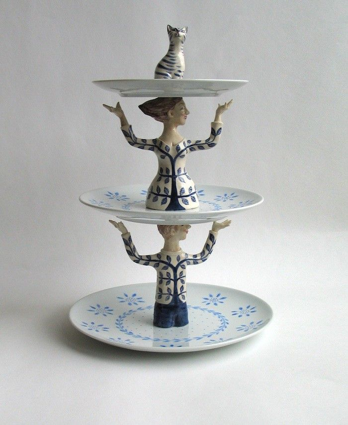 3 Tier Cakestand by Helen Kemp