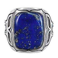 Whale ring in Lapis Lazuli and Pyrite - $385 http://www.lordcoconut.com/shop/whale-lapis-lazuli-ring/