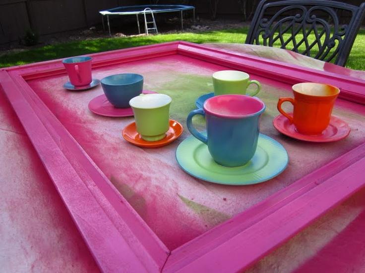 pink plastic tea cups    Tea Cup Centerpieces