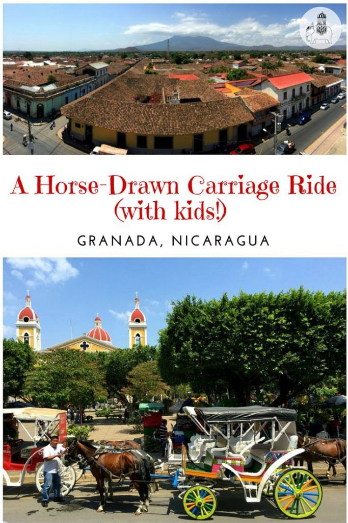 Nicaragua with Kids: A Horse-Drawn Carriage Ride around Granada. We take a horse-drawn carriage ride around Granada and learn all about this colourful city's equally colourful history! From the arrival of the Spanish and The Golden Age of Piracy to the troubled times of William Walker. This is a great way to explore Granada and its history with kids.