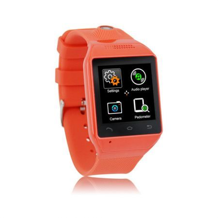"S19 Bluetooth Smart Watch Phone 1.54"" Touch Screen GSM Support SIM TF Camera Smartwatch for Android Cell Phone Sync  - Red"