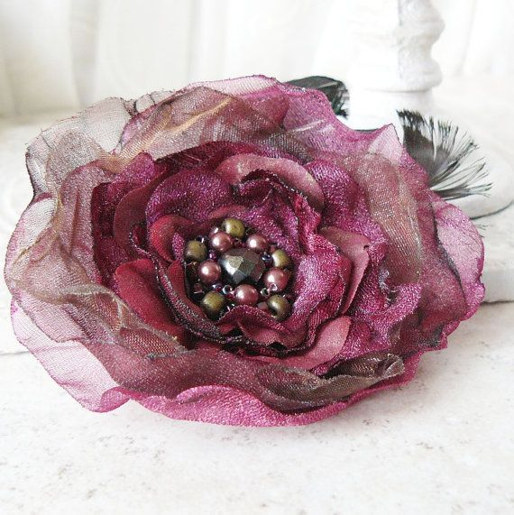 Temptress Layered Flower Brooch in Chocolate and ❤ by Viridian
