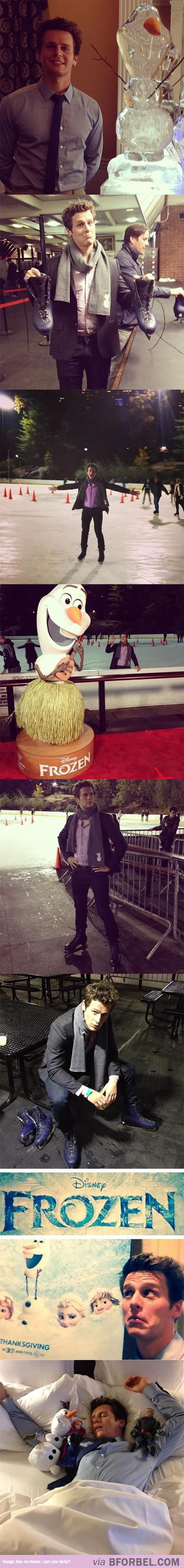 """Jonathan Groff (Voice Of Kristoff) Loves """"Frozen"""" more than anyone ever"""