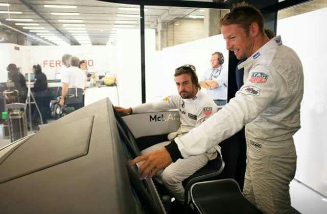 Jenson and Fernando in Spa
