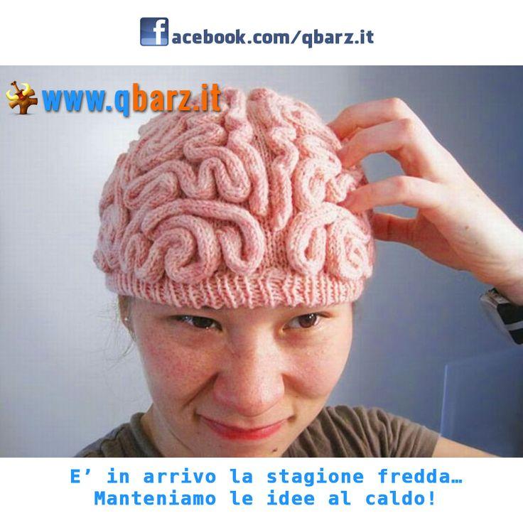 """Cappello di lana a forma di cervello - è l'articolo """"Mai più senza"""" dell'inverno 2012-13"""