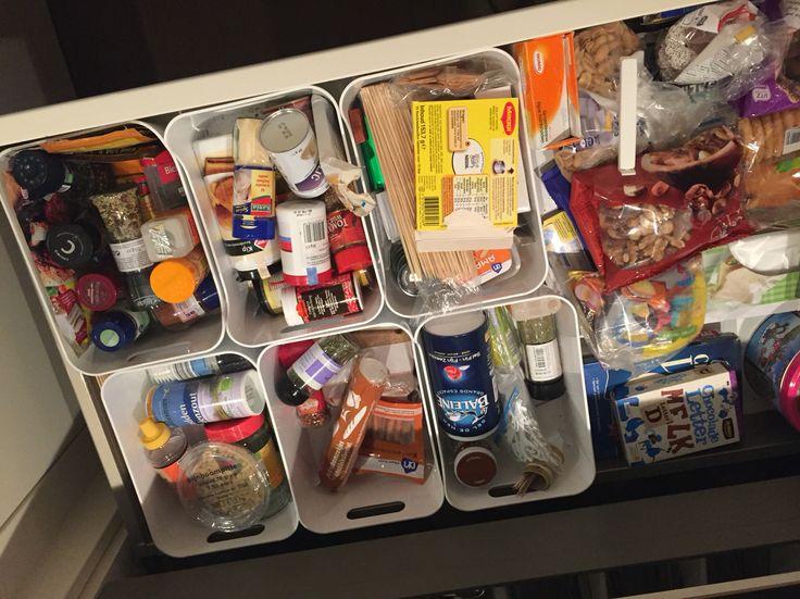 Opbergdozen Ikea voor in laden keuken