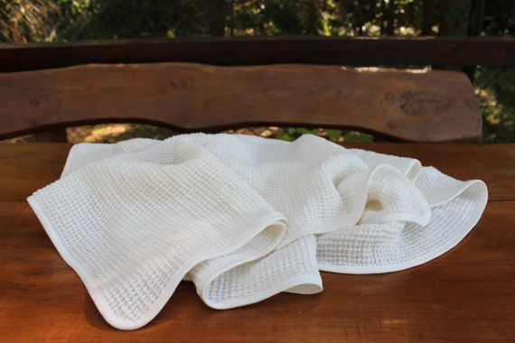 Linen Blanket Natural linen Linen Blanket Throw by OldWallLinen