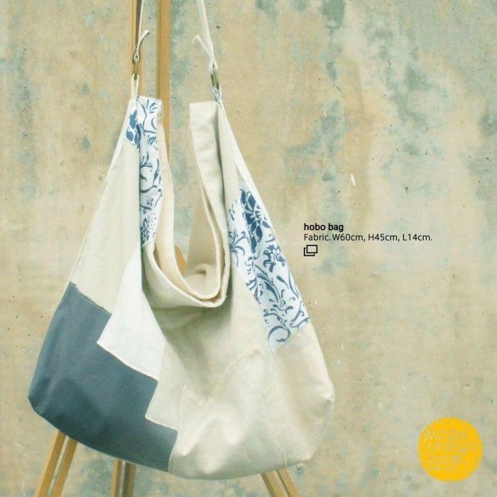 Large Hobo Bag #whiteorangefarm #mosseash #handmade #handmadebag #cotton #canvas