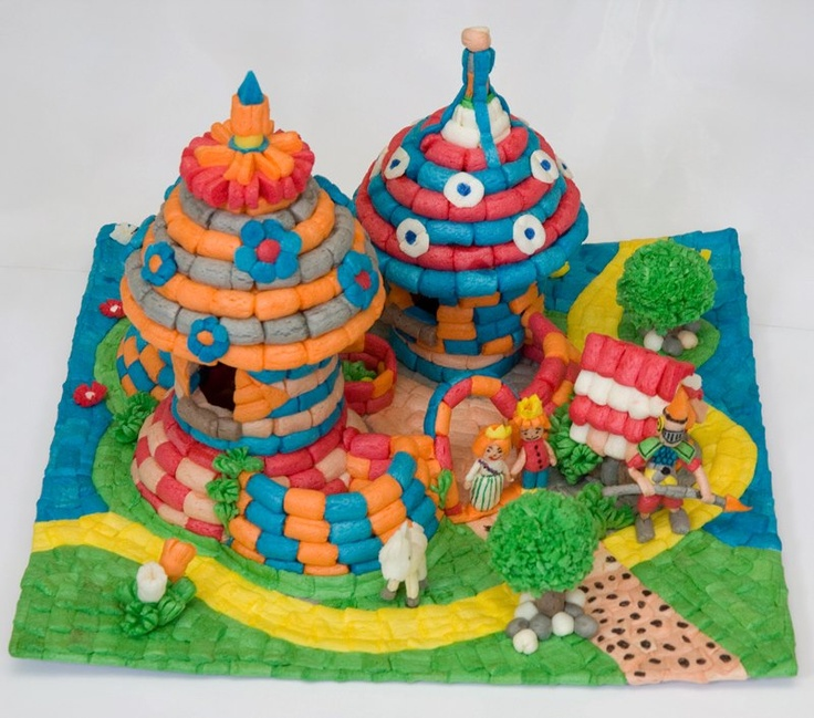 Appeltjes en Pere likes: Playmais castle