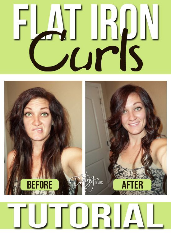 How to curl your hair with a flat iron!  Just follow our simple video tutorial. www.TheDatingDivas.com #hairtutorial #flatiron #curls