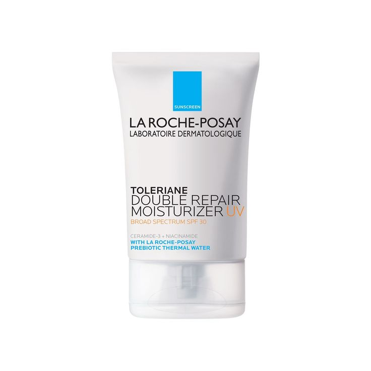 You've heard of probiotics, but this new line from La Roche-Posay (the result of five years of research, which we reported on last month) contains prebiotics. The good-for-your-skin bacteria promote a healthy microbiome, a.k.a. the micro-organisms that live on top of the skin, and are responsible for a strong skin barrier. To put it in simpler terms, a healthy microbiome equals a healthy skin barrier equals healthy skin. This moisturizer delivers all that as well as your daily dose of sun…