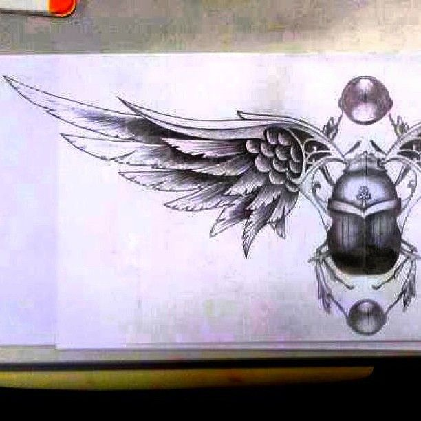 Scarab beetle - served as a symbol of regeneration and creation conveying ideas of transformation, renewal, and resurrection