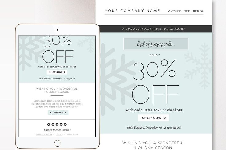 Sales Fashion Email Template Newsletter Eblast PSD Email | Etsy