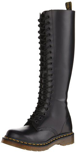 Del Dr. Martens Mujeres 1B60 20-Eye Boot, Negro, 6 Reino Unido (mujeres estadounidenses 8 M)