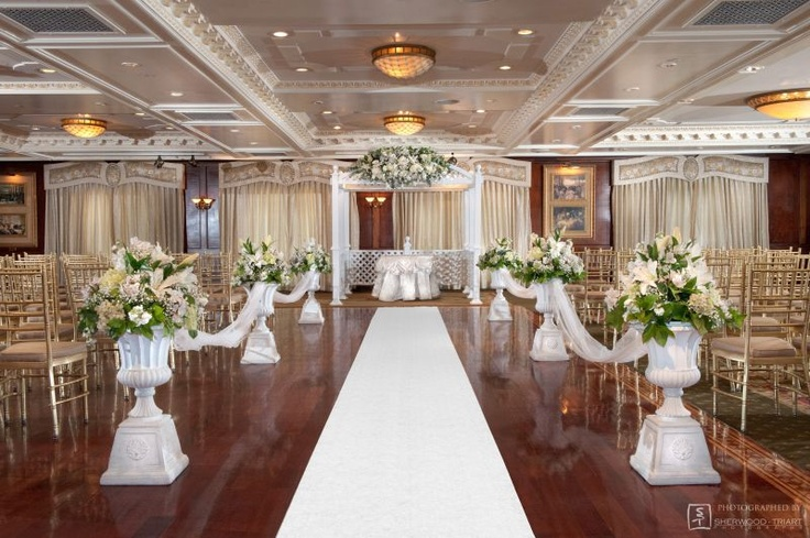 Indoor, Classic Wedding Ceremony At Westbury Manor In