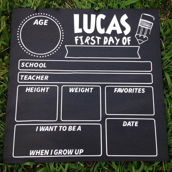First Day of School Chalkboard Sign 1st Day/ by WeeCustomDesigns