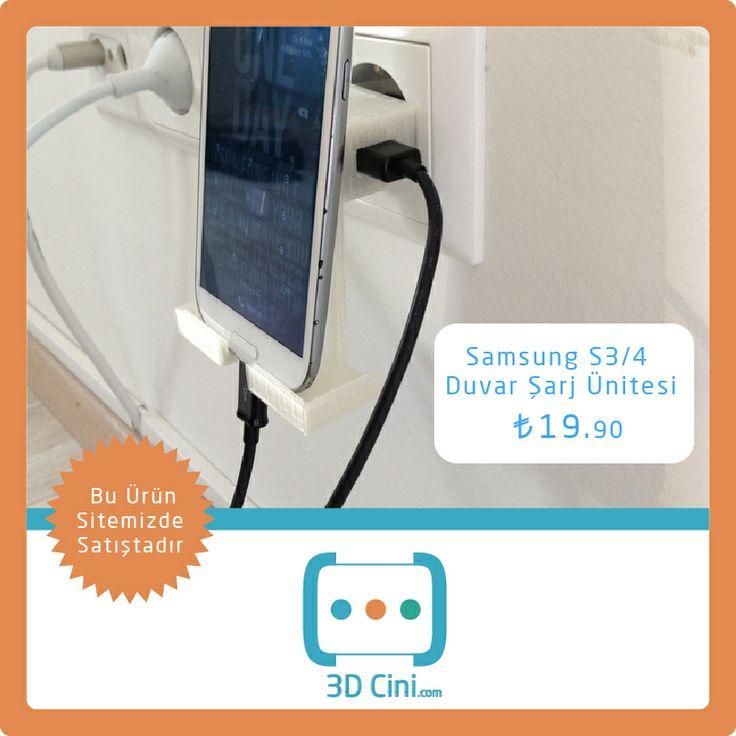 Telefonu şarj etmenin en pratik yolu Samsung S3/4 Duvar Şarj Ünitesi … www.3dcini.com  #3DBaskı #3DYazıcı #3dprinting #3dprinterürünleri
