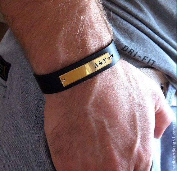 Именной мужской браслет. Стильное украшение с уникальной гравировкой -