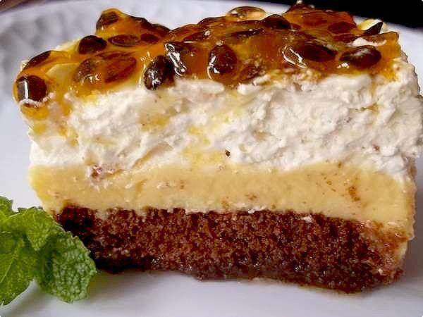 Torta pavê de maracujá