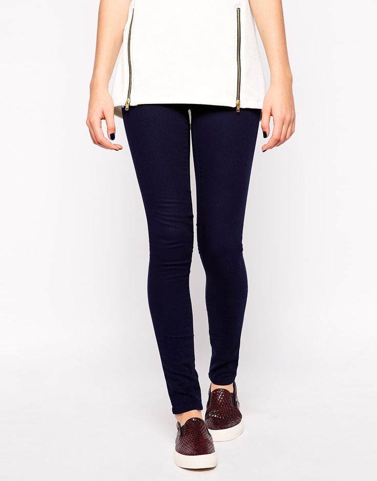 Image 4 of Pieces Classic Blue Jeggings