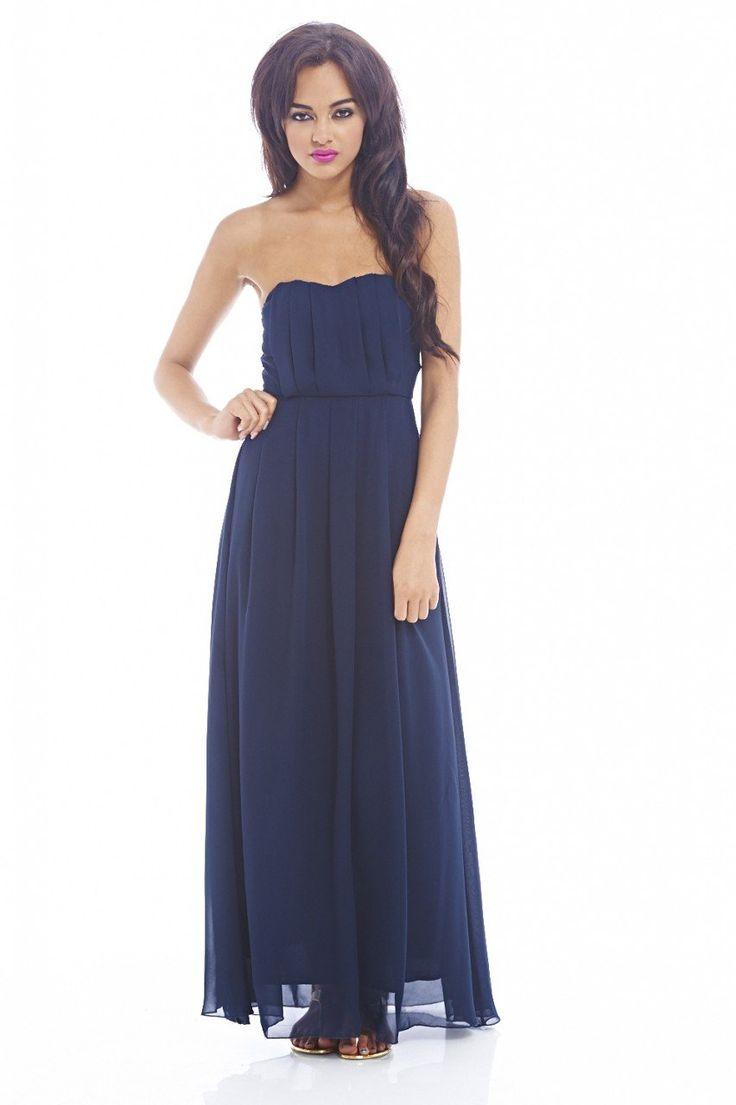 Plain Strapless Dress
