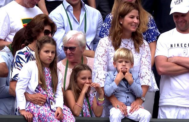 Roger Federer, his wife, Mirka Federer, and their four children—identical twin daughters Myla and Charlene, who are almost 8, and identical 3-year-old twin sons Leo and Lennart, cheered on the…