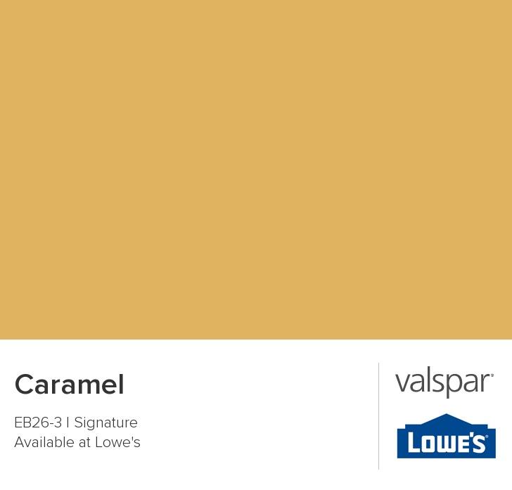 Valspar Paint Color Chip Caramel Our Living Room Now I Love It Kind Of Reminds Me Peanut Er That Its On The Walls Bu