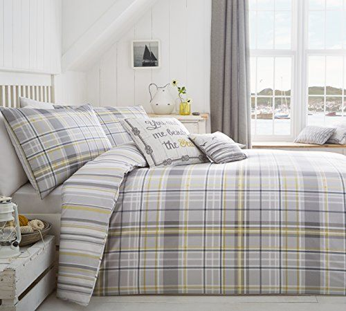 """From 14.99 Curtina """"rathmore"""" Duvet Cover Set Includes 1 Single Duvet Cover And 1 Pillowcase Silver Single"""