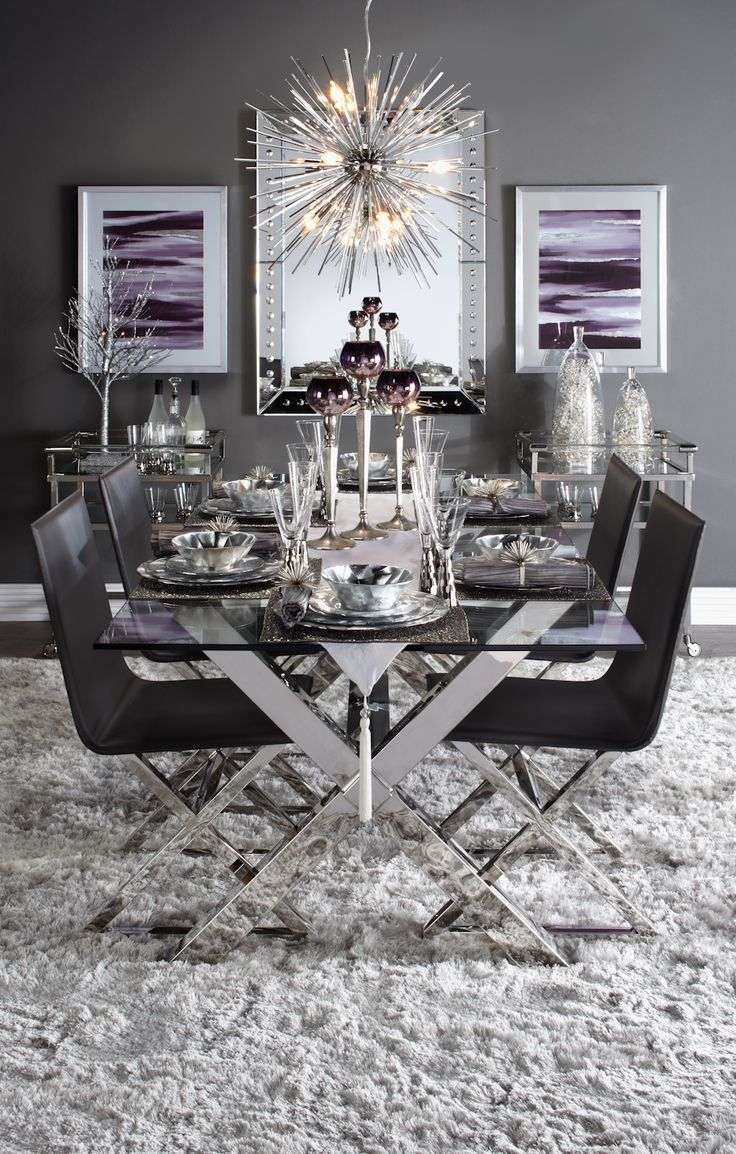 Holiday entertaining inspiration for the Urban Modernist. Click to shop this look , or browse all of our holiday table inspiration!