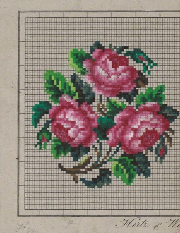 Berlin ? WoolWork Roses Pattern