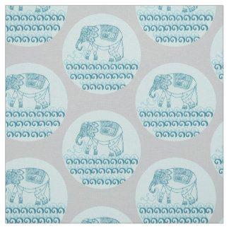indian elephant pattern fabric
