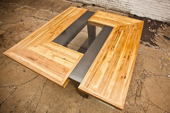 Modern Dining Table for Six  Maple Top with by Designed4ModernLife, $4800.00