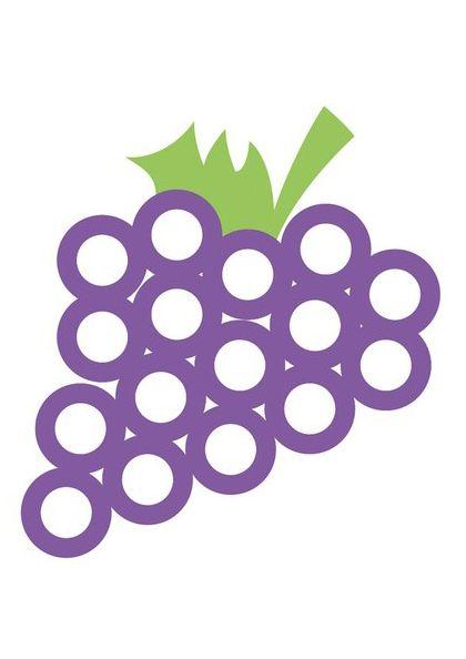 Рисуем пальчиками виноград - razukrashki.com