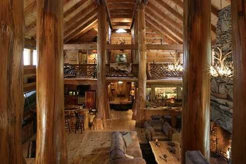 The Nearly 6 000 Sq 39 Interior Of The Hunting Lodge Is No Less