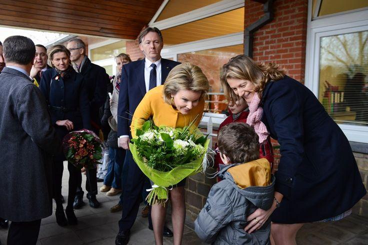 Reine Mathilde en visite aux Perce-Neige