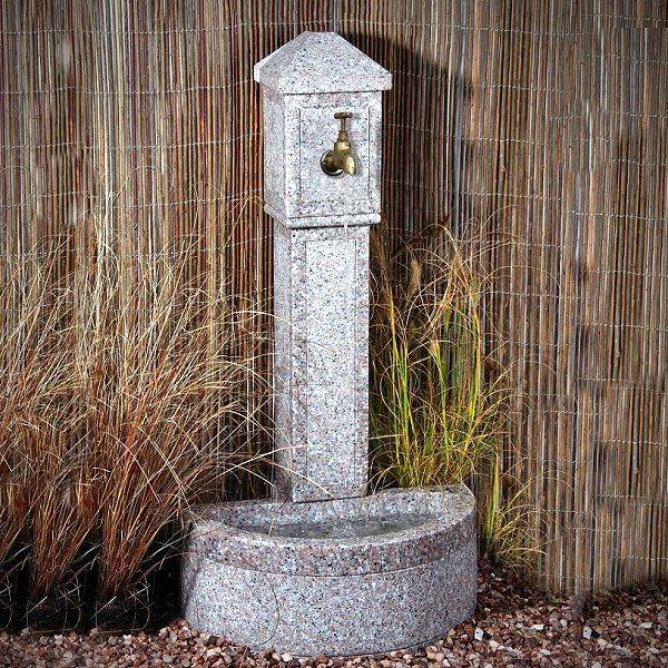 Wall Fountains For Garden Tap Ornamental Blush Granite