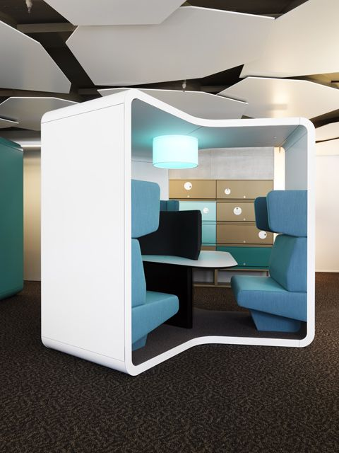 """The Lista Office LO """"Touch Down"""" with three sheltered niches has been conceived to promote short working sessions, photo © Dirk Altenkirch"""