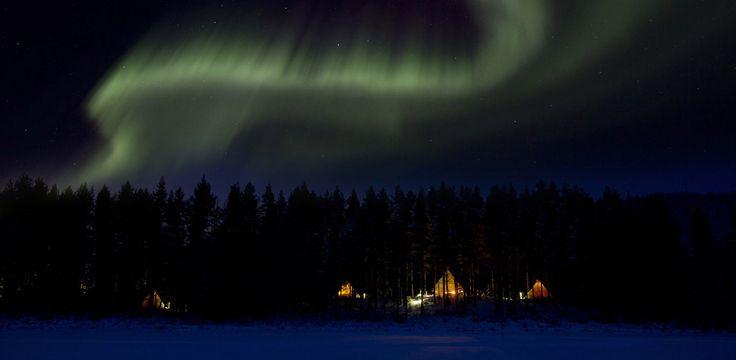 Norrsken vid Aurora Safari Camp. Foto: Fredrik Broman