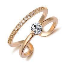 Anel Solitário Banhado Ouro 18k Pedra Zircônia - Nº1 Anéis