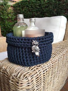 El Búho Crochet : Cesta Milena #Trapillo#crochet#basket