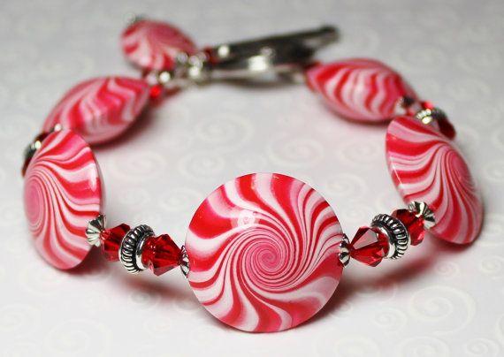 Handmade Jewelry Bracelet Beaded Christmas Holiday
