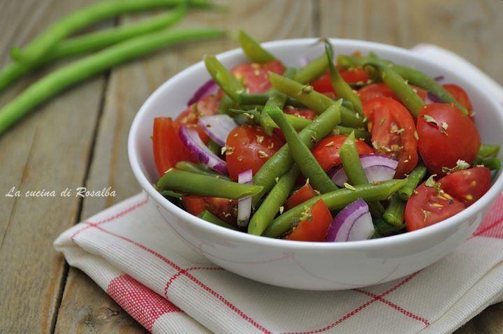 insalata di pomodorini fagiolini e cipolla