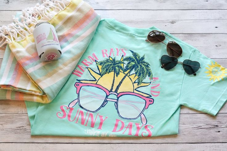 Southern Girl Prep Warm Rays and Sunny Days T-shirt